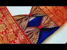 Silk blouse gala design cutting and stitching /blouse designs Blouse Designs Catalogue, Kids Blouse Designs, Saree Blouse Neck Designs, Simple Blouse Designs, Stylish Blouse Design, Bridal Blouse Designs, Sari Design, Traditional Blouse Designs, Designer Blouse Patterns