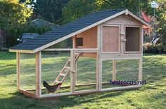 chicken coop== love the way the ladder is made and the upstairs layout. Too open on the bottom, ok if against a wall or inside a barn. A strong wind could blow it over.