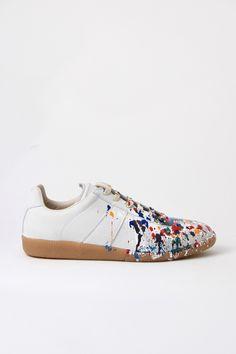 Maison Martin Margiela Paint Splatter Sneakers. 2nd time I've pinned. :D