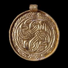 Gold Pendant, Anglo-Saxon, late 6th-early 7th century AD, Wingham, Kent, England