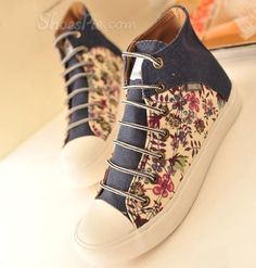 Refreshing Matching Color Calico Canvas Front Row, High Tops, Louis Vuitton, Canvas, Heels, Boots, Sneakers, Cute, Hip Hop