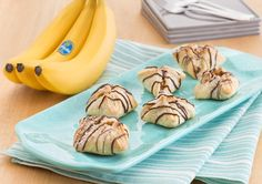 Best Chiquita Banana Peanut Butter Pockets Recipe Little puff pastry pockets filled with peanut butter, banana and chocolate are a winning trio of flavors.