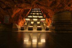 U-Bahnhaltestelle Rådhuset in Stockholm... Einfach beeindruckend!