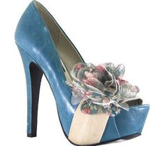 Just got these in black ~ Summer church shoes ~ Love the flower