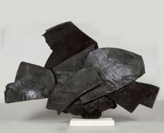 "Solder, Paul. ""Pedestal Piece"". 1998. American Raku.  Known for experimenting in Japanese style raku introducing it to new methods of of firing + post firing, later becoming known as American Raku"
