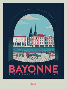 © Marcel Bayonne QUAIS DE NIVE www.marcel-biarritz.com