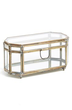 Appreciating the antiqued, art deco look of this captivating little jewelry box. It's perfect for show casing shiny little things.