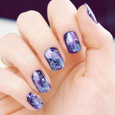 purple Nail Art Designs #nails www.finditforweddings.com