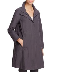 Eileen Fisher High Collar Windbreaker Jacket | Bloomingdale's