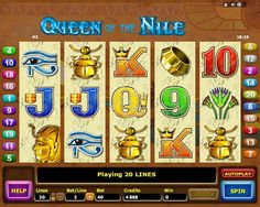 Are you hot enough to try Queen Of The Nile from Aristocrat slots? Try the adventures of free slots online play before risking your money! Free Slots, Slot Online, Slot Machine, Online Casino, Queen, Arcade Machine