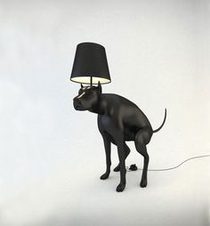 This lamp takes art to another level. With a flick of a poop you can turn your lamp on and off and also scare other dogs who enter your home. Makes a great gift for mom. High Design, Deco Design, Best Puppies, Boy Dog, Bizarre, The Incredibles, Lights, Cool Stuff, Awesome