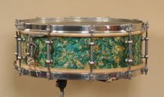RARE 1928 Ludwig Ludwig Peacock Pearl Snare Drum w Stand | eBay