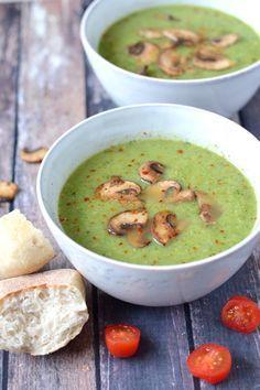 Broccoli zucchini soup with spicy mushrooms - Broccoli zucchini soup with spicy mushrooms - Raw Food Recipes, Veggie Recipes, Vegetarian Recipes, Cooking Recipes, Healthy Recipes, Chowder Recipes, Soup Recipes, Dinner Recipes, Vegan Soups
