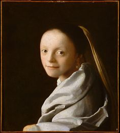 Study of a Young Woman Vermeer c1665-67