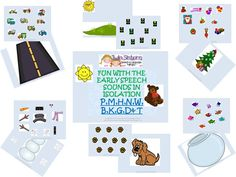 Updated!  EARLY SPEECH SOUNDS in isolation! P, M, H, N, W, B, K, G, D and T.