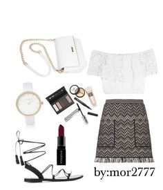 """""""Untitled #69"""" by mor2777 ❤ liked on Polyvore featuring River Island, Missoni, Anine Bing, Miguelina, Smashbox and Borghese"""