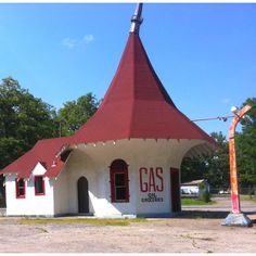 """Early Americana Gas Station in Sherwood Arkansas. Will be featured in Harry Thomason's film, """"The Last Ride"""", story of Hank Williams' life. Amazing history from the old HWY 67 (Rock n Roll Hwy)! Trying to restore it!! Kcoughlin@sherwoodchamber.net"""