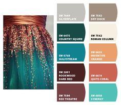 Paint colors from chip it! by sherwin-williams. Paint Color Palettes, Colour Pallette, Color Combinations, Paint Colors, Color Schemes Design, Paint Schemes, Home Design Living Room, Design Seeds, Blue Accents