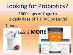 Probiotics are essential to digestion, immune system and overall health! A simple step to getting your daily dose of probiotics, Thrive! Start your journey to optimal health with Thrive!  Thrive helps boost work outs, build lean muscle  maintain your overall health! Www.forbis.le-vel.com