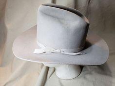 eb363da7b1d Vintage Dynafelt Gray Fur Felt Western Men s Cowboy Hat Size 6 7 8 55 cm