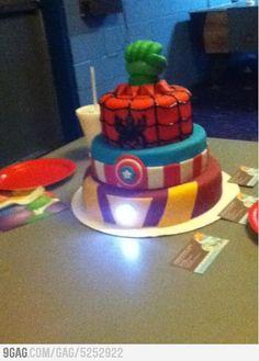 Homemade Avengers Birthday Cake - So epic it hurts