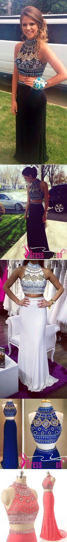 Top Selling Open Back Navy Blue Chiffon 2 Pieces Detachable Skirt Long Prom…