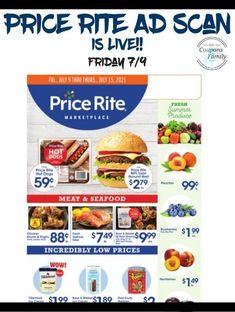 Price Rite Ad 7/9: $.59 Hot Dogs, $1 Pepsi 2 ltrs and more Rice Krispie Treats, Rice Krispies, Tyson Chicken Wings, Smuckers Uncrustables, Totinos Pizza Rolls, Aunt Jemima Pancakes, Pepperidge Farm Goldfish, Dole Pineapple, Mini Rolls