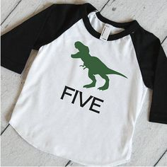 c6cad600e Items similar to Five T-Rex Birthday Shirt Dinosaur 5th Birthday Shirt,  Dinosaur Birthday Shirt, 5 Year Old Dinosaur Shirt, 317 on Etsy