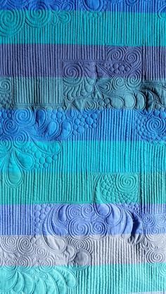 Elven Garden Quilts: Beneath the Waves (a finished quilt!)