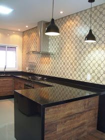 A casa da Mi: A cozinha completa! Moduler Kitchen, Concrete Kitchen, Kitchen Cabinet Design, Interior Design Kitchen, Kitchen Decor, Home Upgrades, Cottage Kitchens, Home Kitchens, Kitchen Island Dimensions