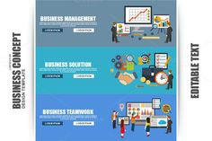 Flat Concept Business Strategy. Business Infographic
