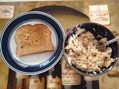3 day military diet. Lunch. Day #1 The worst meal of the entire 3 days in my opinion but I choke it down.   While wheat toast (plain) 1/2 cup of tuna (again plain)  Coffee or tea (also plain)
