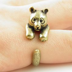 Animal Wrap Ring - Bear - Bronze - Adjustable Ring - keja jewelry