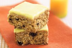 This tasty oat and coconut slice will give you an energy boost any time of day.