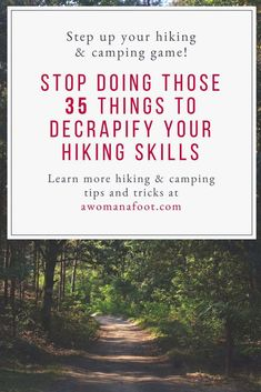 Here's Why You Are a Crappy Hiker: 35 Things to Stop Doing to Decrapify Your Hiking & Camping Skills — A Woman Afoot - Camping hacks Camping Hacks, Solo Camping, Backpacking Tips, Camping Supplies, Hiking Tips, Family Camping, Camping Gear, Camping Checklist, Camping Essentials