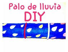 Palo de lluvia: Manualidad para hacer con niños Tutorial con paso a paso para aprender a hacerlo con dos botes de Pringles
