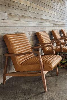 Callan Leather Chair U0026 Ottoman