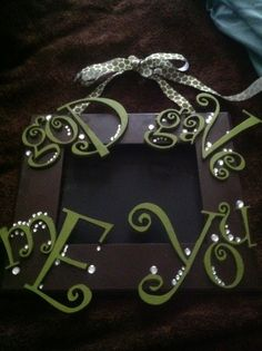 """God Gave me you"" wall hanging with cute ribbon! With chalk board or picture frame! can be used as either/or!     * For Sale *   By: Lonestar BLinG!    Friend us on fb!"