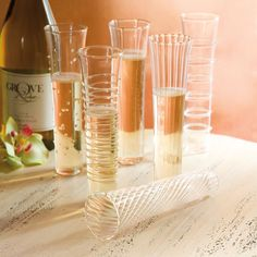 personalized mimosa glasses | MIMOSA FLUTES (SET OF 6)