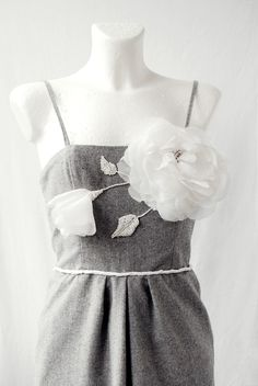 SALE White Roses DRESS von MagnolijaDRESS auf Etsy