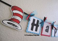 Dr Seuss Invitations set of 20 by 21Creations on Etsy, $45.00