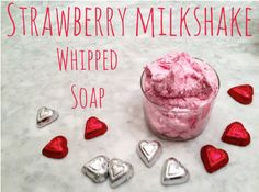 Recipe: Strawberry Milkshake Whipped Soap! Enjoy! :) http://www.bulkapothecary.com/blog/soap-recipes/recipe-strawberry-milkshake-whipped-soap/ #BulkApothecary