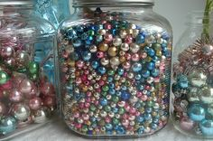 mercury glass beads....just looking at them makes me happy...crazy!!