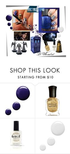 """""""Dr Who nail art"""" by marthecha ❤ liked on Polyvore featuring beauty, Topshop, Deborah Lippmann and Lauren B. Beauty"""