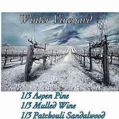 Pink Zebra Recipe: Winter Vineyard.  Featuring Aspen Pine, Mulled Wine and Patchouli Sandalwood