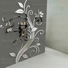 Flower Wall Stickers, Mirror Wall Stickers, Wall Stickers Home Decor, Wall Decals, Vinyl Decals, Flower Mirror, Flower Wall Decor, Acrylic Mirror, Diy Mirror