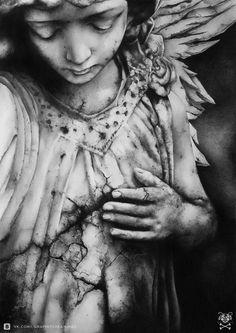 Angel Illustration by ~DmitriyZakharov  Traditional Art / Drawings / Illustration /