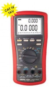 KM 869-AUTORANGING TRUE RMS DIGITAL MULTIMETER WITH VFD FEATURE & PC INTERFACE-Kusam Meco • Beep-Jack Audible & Visible Input Warning • 41 Segment Analog Bar-graph • Relative Zero Mode • PC Interface Capability • VFD-V & VFD-Hz readings • Crest (Instantaneous Peak Hold) function • T1-T2 differential Temperature readings. • 500,000 counts stable DCV mode • DC Voltage Basic Accuracy 0.02% • AC; AC+DC True RMS Conversion AC. AC+DC Voltage Bandwidth upto 100kHz (V) & 10kHz (A)