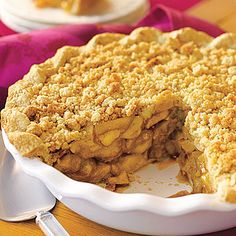 Crumb-Topped Apple Pie                                                             Sprinkle the top of the apple filling with a buttery brown sugar mixture to add extra flavor and texture to this old-fashioned                                   apple pie.                                                                Difficulty Level: Easy