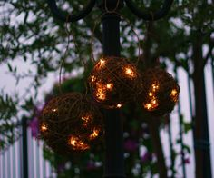 SET of 3 Outdoor Rustic Candles Firefly Lightning Bug Lanterns